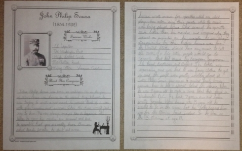 Famous Composer Notebooking Pages