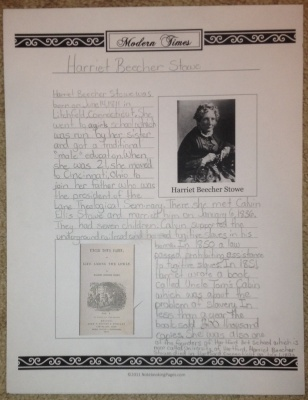 Harriet Beecher Stowe Notebooking Pages