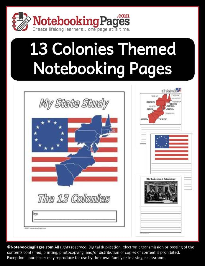 13 Colonies Themed Pages