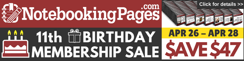 Notebooking Pages Birthday Membership Sale