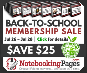 Back-to-School Notebooking Pages Membership Sale