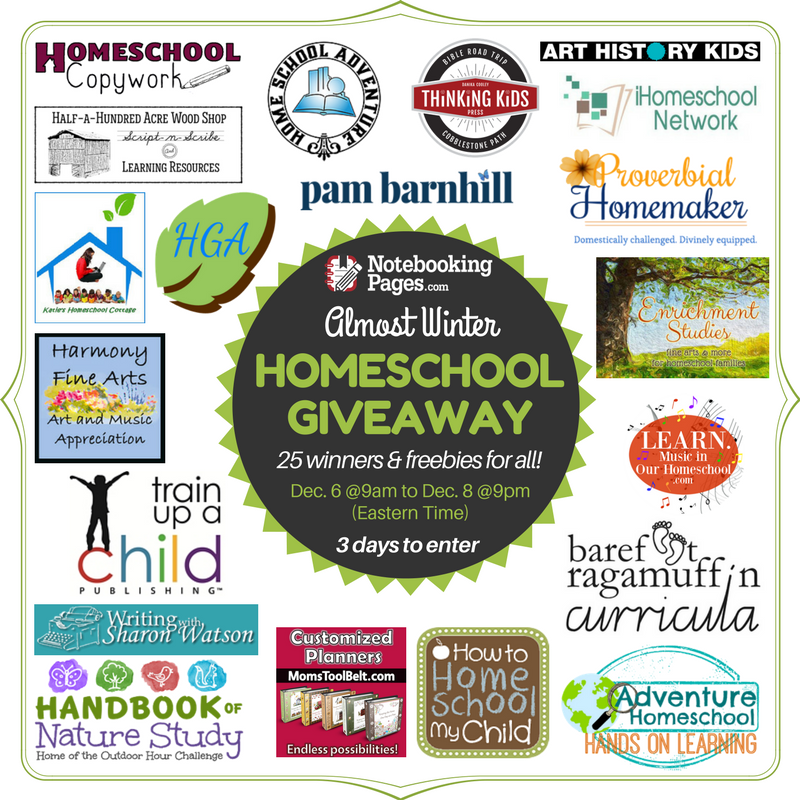 2017 Back-to-School Homeschool Giveaway