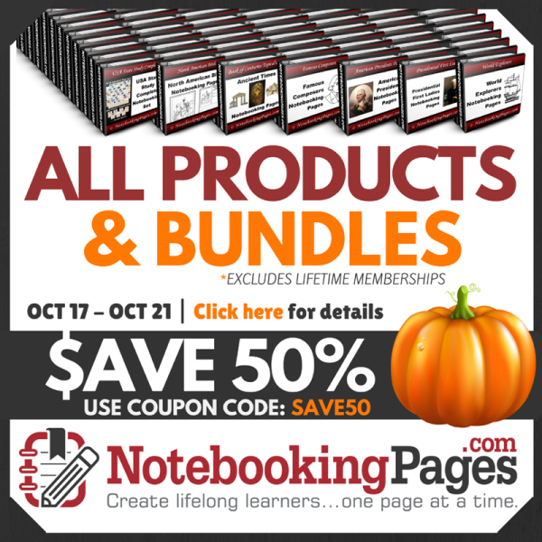 Notebooking Pages 50% Shop Sale