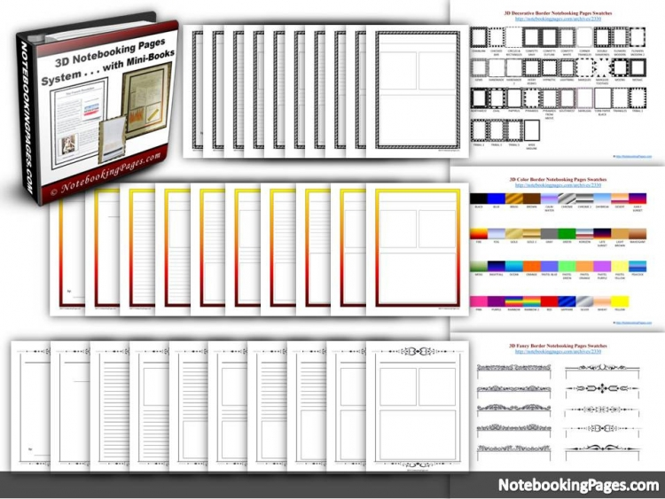 3D Notebooking Pages