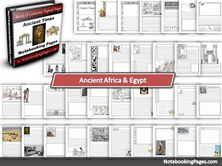Ancient Africa & Egypt Notebooking Pages