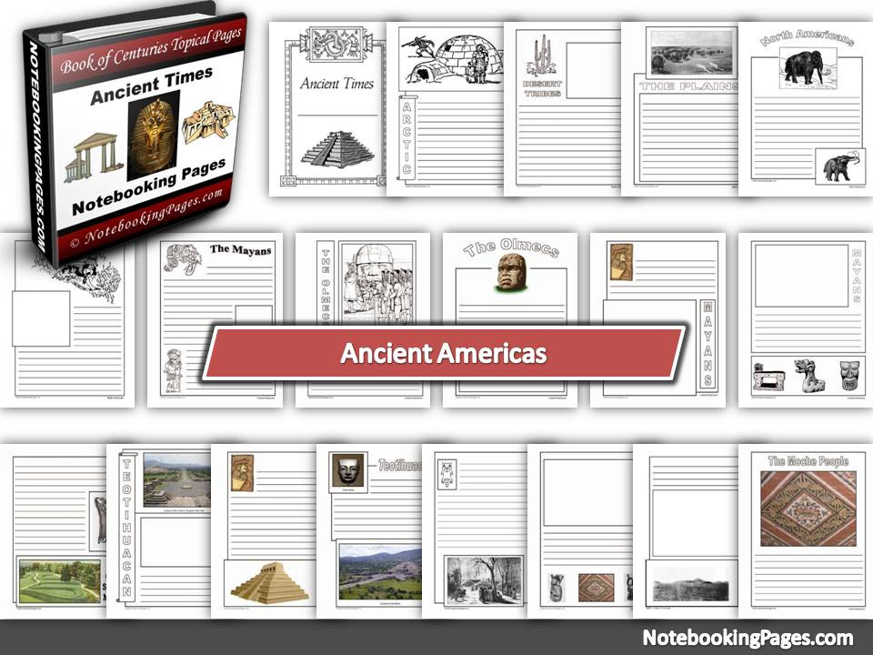 Ancient Americas Notebooking Pages