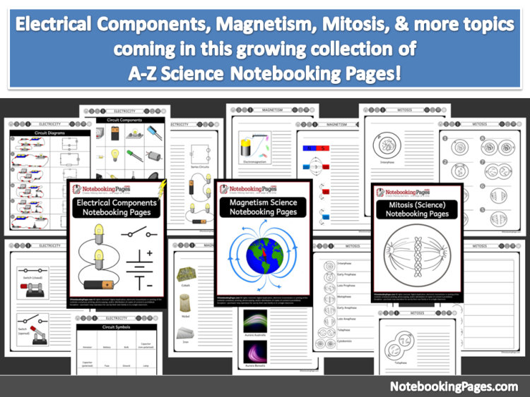 Science A-Z Topical Notebooking Pages & Covers