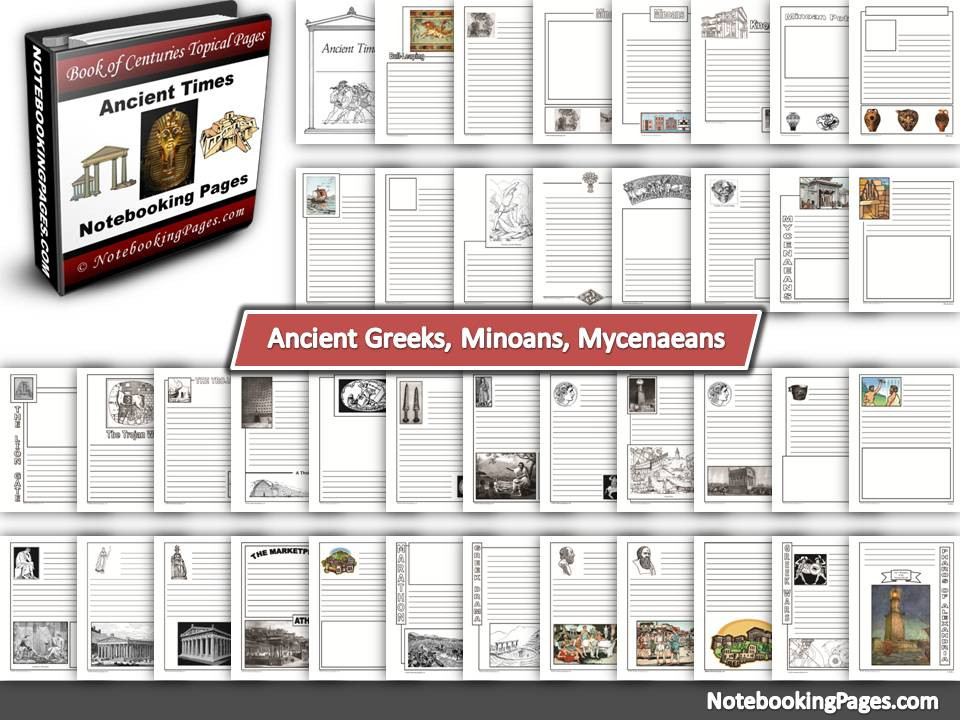 Ancient Greeks, Minoans, & Mycenaeans Notebooking Pages