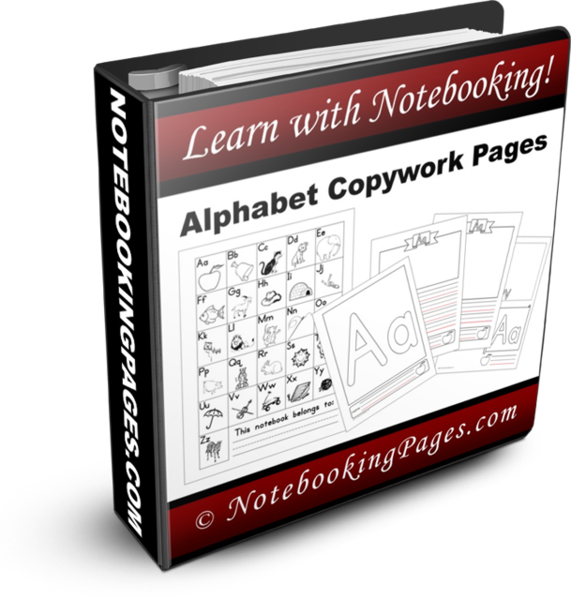 Alphabet Copywork Notebooking Pages