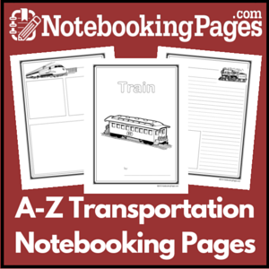 A to Z Transportation Notebooking Pages