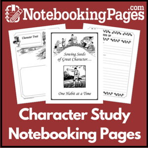 Character Study Notebooking Pages