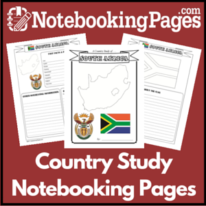 Country Study Notebooking Pages