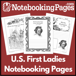 First Ladies of the USA Notebooking Pages