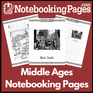 History Middle Ages Notebooking Pages