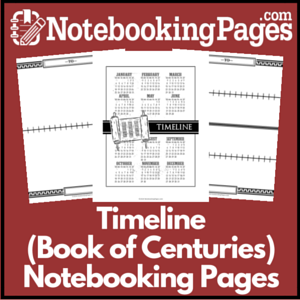 History Timeline Book of Centuries Notebooking Pages