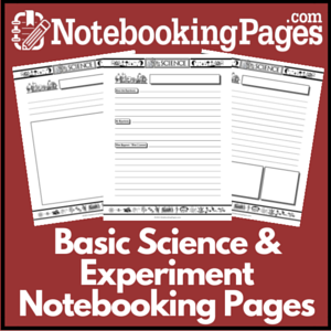 Science & Experiment Notebooking Pages