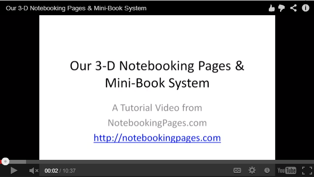3D Notebooking Pages System