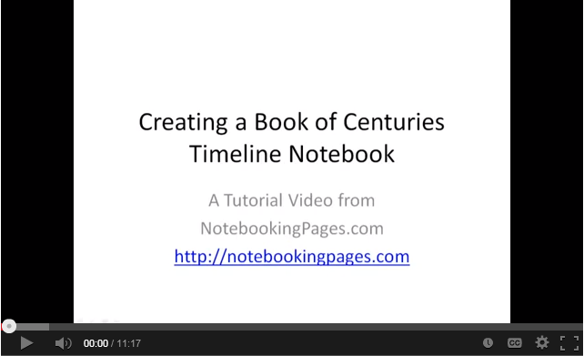 Book of Centuries Timeline Notebooking System