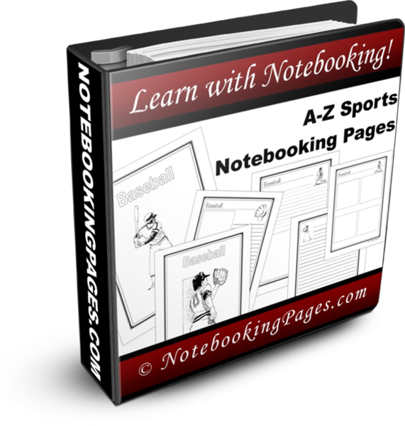 A-Z Sports Notebooking Pages