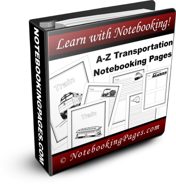 A-Z Transportation Notebooking Pages