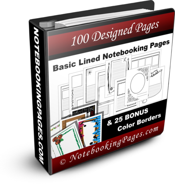 Basic Lined Notebooking Pages