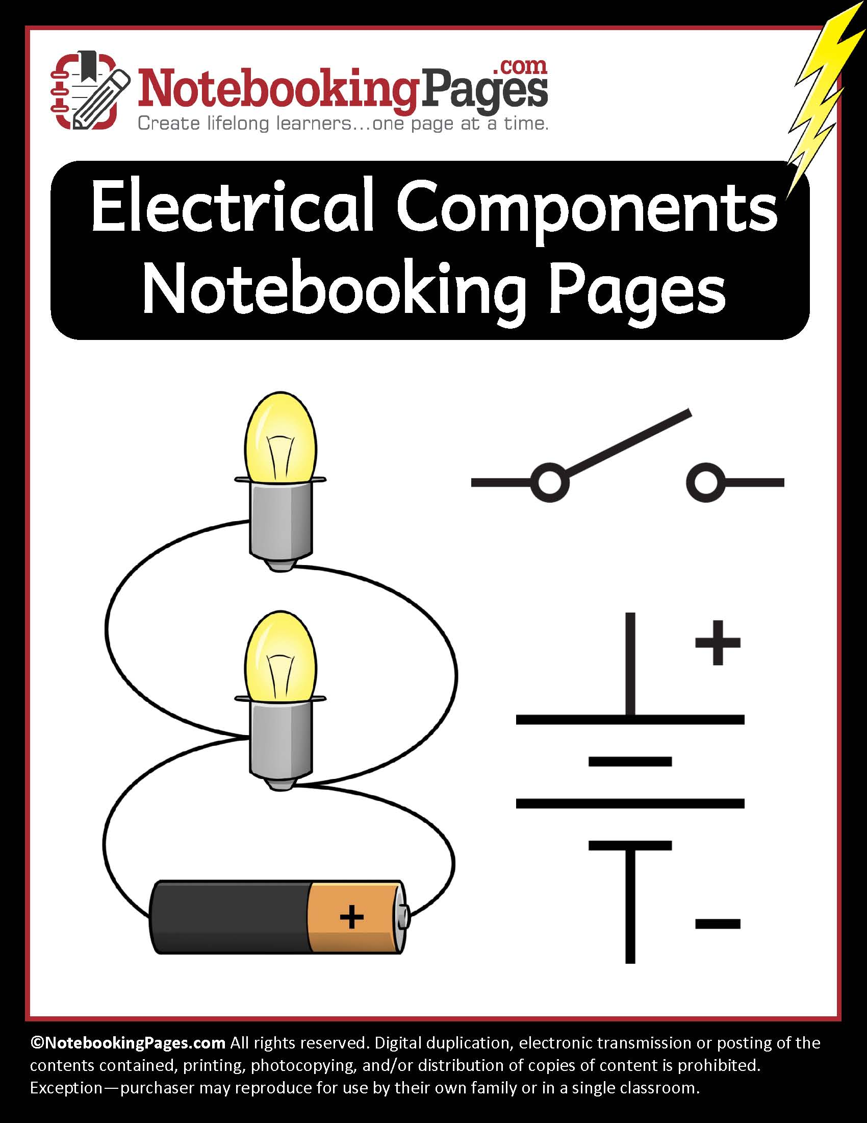 Electrical Components Notebooking Pages