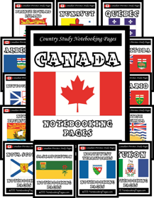 [BUNDLED] Canada Country and Provinces Complete Notebooking Set