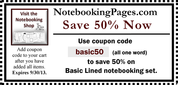 Notebooking Pages Coupon