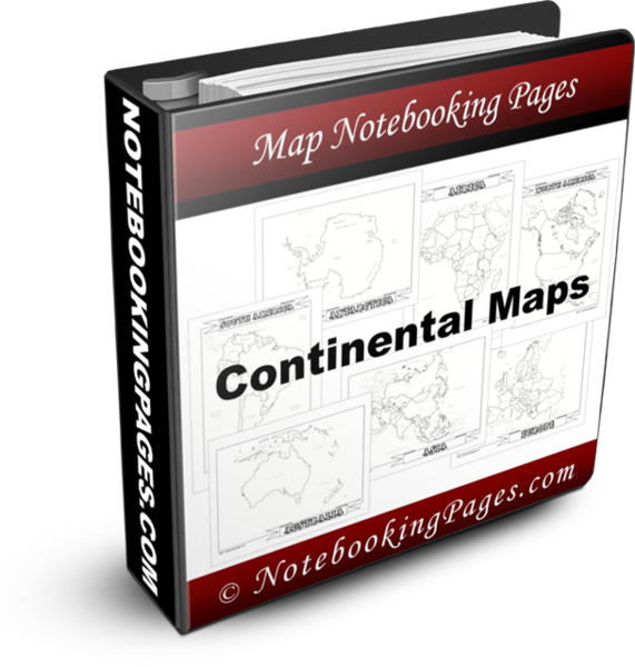 Continental Map Pages