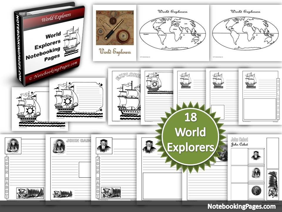 Famous World Explorers Notebooking Pages