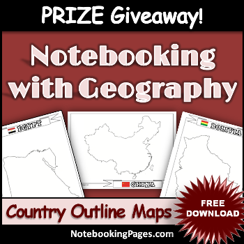 Free Country Outline Maps & Prize Giveaway