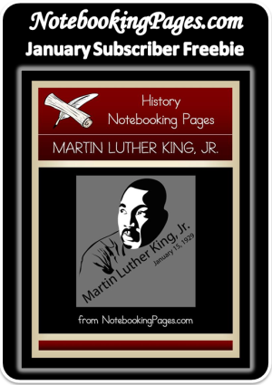 Free Martin Luther King Jr Notebooking Pages