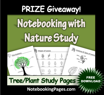 Free Tree and Plant Nature Study Pages
