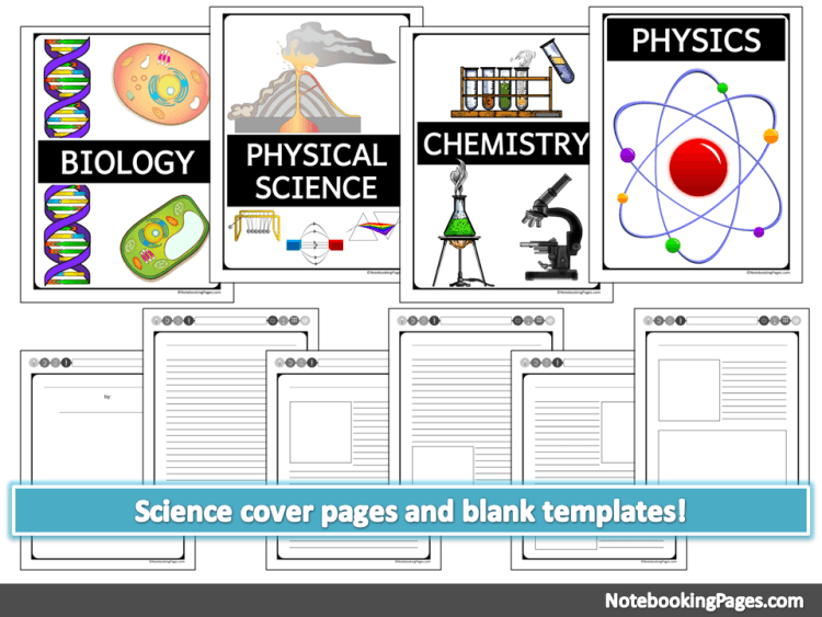 Science Cover Pages & Blank Templates