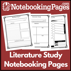 Literature Study (& Book Report) Notebooking Pages