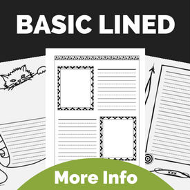 Notebooking Pages Basic Lined & Borders