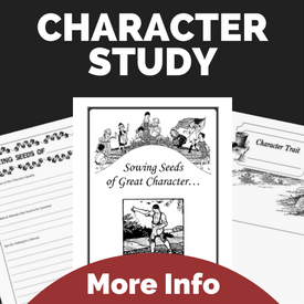 Notebooking Pages Character Study