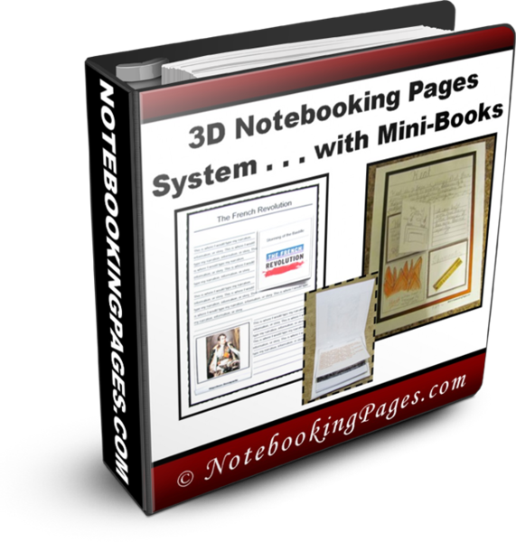 3-D Notebooking Pages Templates and Mini-Books