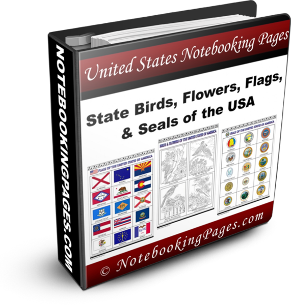 USA State Birds, Flowers, Flags, and Seals