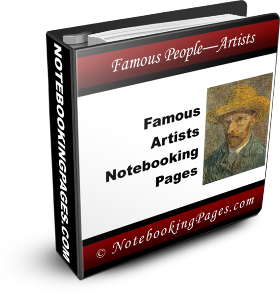Famous Artist Notebooking Pages