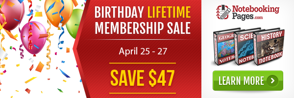 Notebooking Pages LIFETIME Membership Sale
