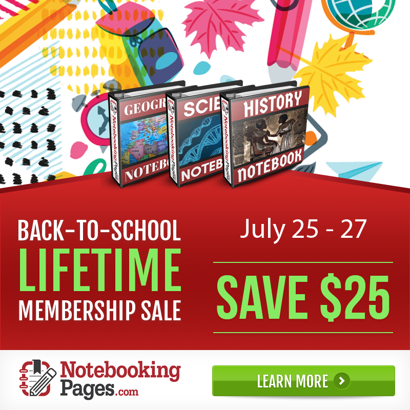 Notebooking Pages Back-to-School Membership Sale