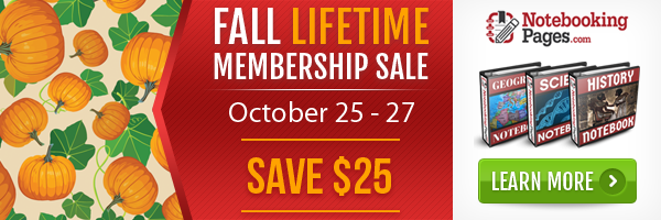 Notebooking Pages Membership Sale